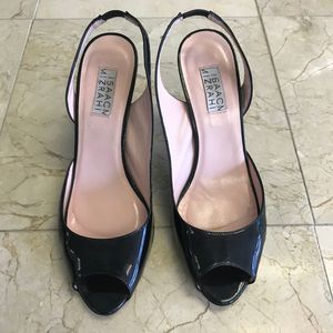 Isaac Mizrahi Women's Slingback Black Shoes  7
